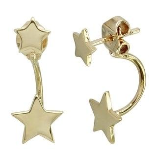 14k Italian Gold Star Earrings