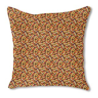 Retro Puzzle Burlap Pillow Double Sided