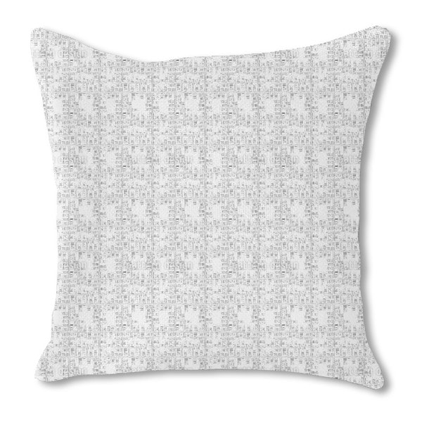 City Map Burlap Pillow Double Sided