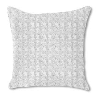 City Map Burlap Pillow Single Sided