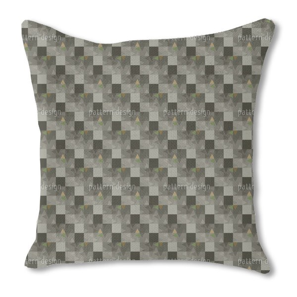 Geometric Echo Burlap Pillow Double Sided