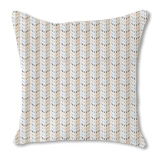 High Rise Chevron Burlap Pillow Double Sided