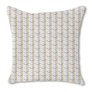 High Rise Chevron Burlap Pillow Single Sided