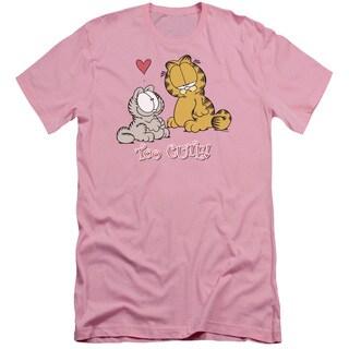 Garfield/Too Cute Short Sleeve Adult T-Shirt 30/1 in Pink
