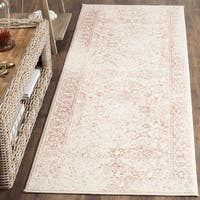 "Safavieh Adirondack Vintage Distressed Ivory / Rose Runner - 2'6"" x 10'"