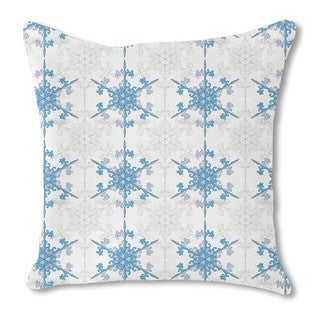 Snowflake Beauty Burlap Pillow Single Sided
