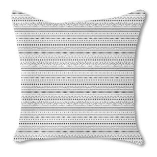 Winter Ethno Burlap Pillow Single Sided