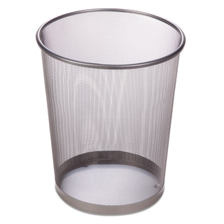 "Honey Can Do TRS-02101 11.5"" X 14"" Silver Wire Mesh Waste Bin"