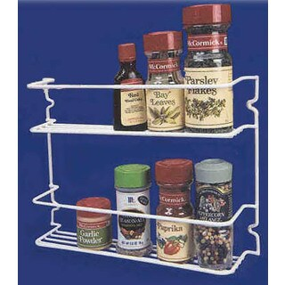 "Grayline 40504 11-1/2"" X 3"" X 8"" 2 Shelf Spice Rack"