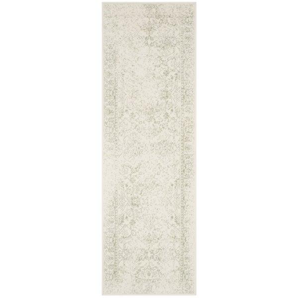 Safavieh Adirondack Vintage Distressed Ivory / Sage Runner (2' x 6')