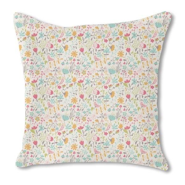 Floral Enchantment Burlap Pillow Double Sided