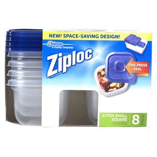 Ziploc 70931 Extra Small Square Container 8-count