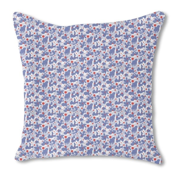 Scribble and Dots Burlap Pillow Single Sided