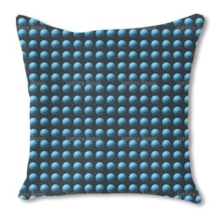 Press the Blue Button Burlap Pillow Single Sided