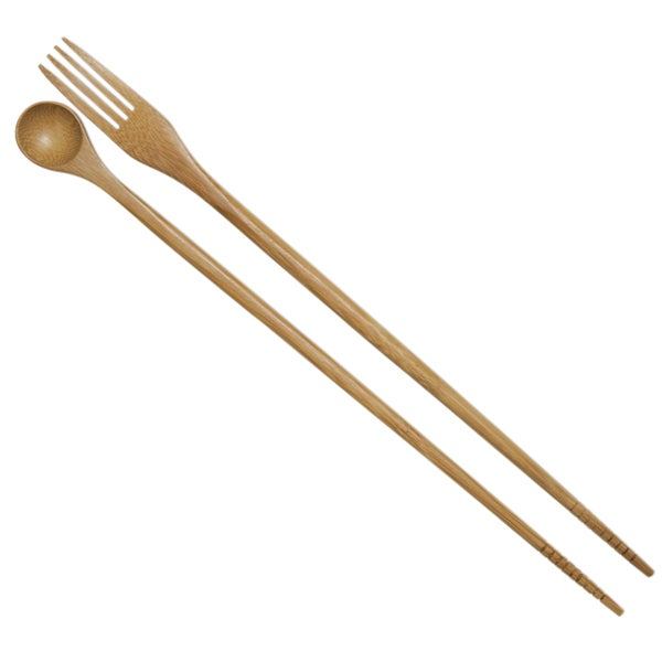 "Joyce Chen J30-0042 13"" Taste N Cook Burnished Bamboo Chopsticks"