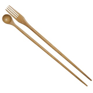"Joyce Chen J30-0042 13"" Taste N Cook Burnished Bamboo Chopsticks"