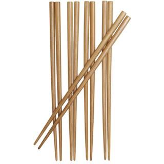 "Joyce Chen J30-0041 9"" Burnished Bamboo Chopsticks - Brown"
