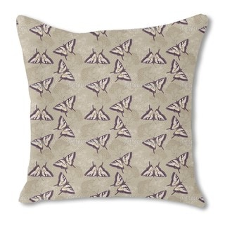 Herbs and Butterflies Burlap Pillow Single Sided