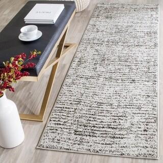 Safavieh Adirondack Modern Black/ Silver Runner Rug (2' x 20')