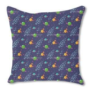 Solar System Burlap Pillow Single Sided