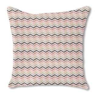 Chevron Blush Burlap Pillow Single Sided