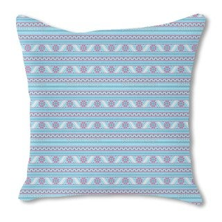 Pixel Winter in Latvia Burlap Pillow Double Sided
