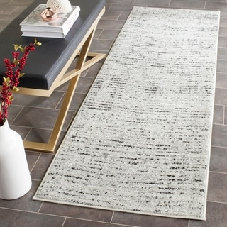 Safavieh Adirondack Modern Abstract Ivory / Silver Runner Rug (2' x 18')
