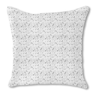 The Cute Owls Burlap Pillow Double Sided
