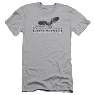 Labyrinth/Owl Logo Short Sleeve Adult T-Shirt 30/1 in Silver