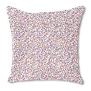 Mosaic Melancholy Burlap Pillow Single Sided
