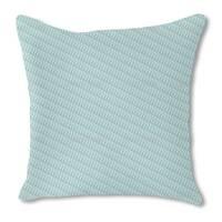 Lamello Blue Burlap Pillow Double Sided
