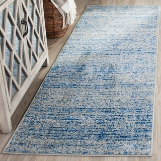 Safavieh Adirondack Modern Abstract Blue / Silver Runner Rug (2' 6 x 14')