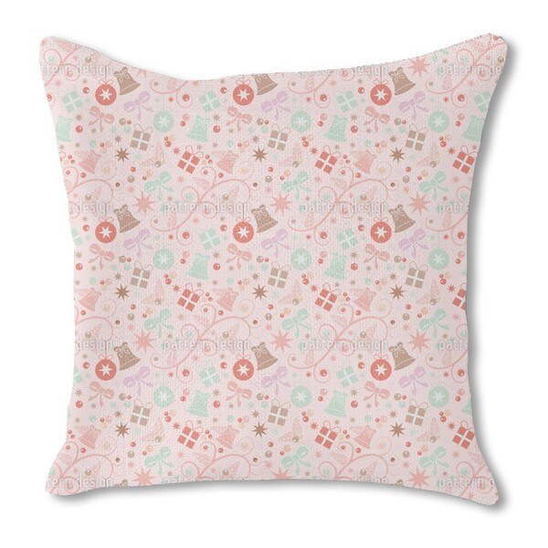 Romantic Christmas Burlap Pillow Single Sided