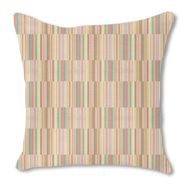 Multicolor Offset Stripes Burlap Pillow Double Sided