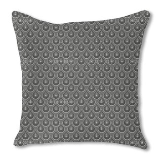 Grey Pearl Rain Burlap Pillow Single Sided