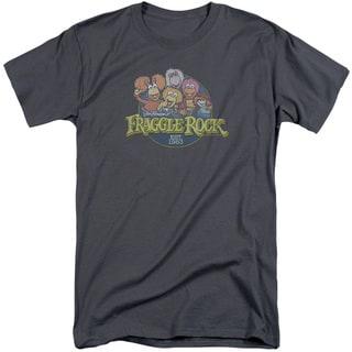 Fraggle Rock/Circle Logo Short Sleeve Adult T-Shirt Tall in Charcoal