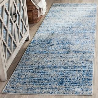 Safavieh Adirondack Modern Blue/ Silver Runner Rug (2' x 12')