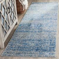 Safavieh Adirondack Modern Blue/ Silver Runner Rug - 2' x 12'