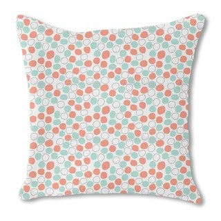 Floating Dots Burlap Pillow Single Sided