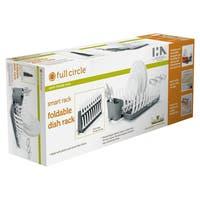 Full Circle FC12401BG Small Green Adjustable & Foldable Dish Rack