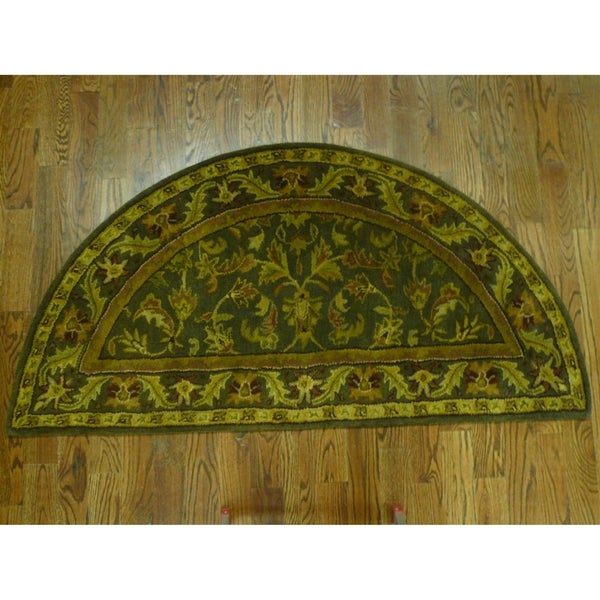Safavieh Handmade Antiquity Charcoal Wool Runner Rug (2' 6 x 5')