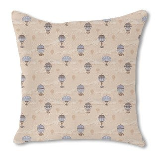The Balloon Voyage of the Montgolfier Brothers Burlap Pillow Double Sided