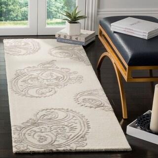 Safavieh Handmade Bella Paisley Ivory / Beige Wool Runner Rug (2' x 7')