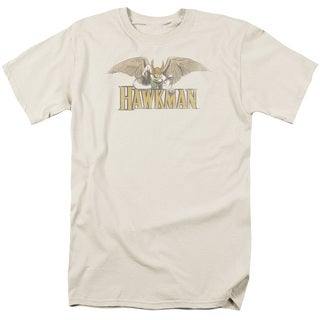 DC/Hawkman Short Sleeve Adult T-Shirt 18/1 in Sand