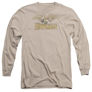 DC/Hawkman Long Sleeve Adult T-Shirt 18/1 in Sand
