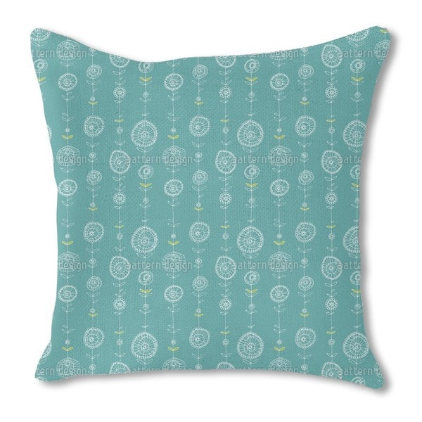 Lei Blue Burlap Pillow Double Sided