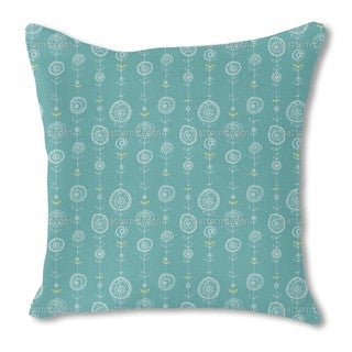 Lei Blue Burlap Pillow Single Sided