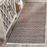 Safavieh Handmade Boston Brown Cotton Runner Rug - 2'3 x 7'