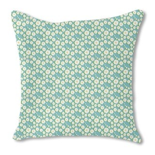 Daisy Garlands Burlap Pillow Double Sided