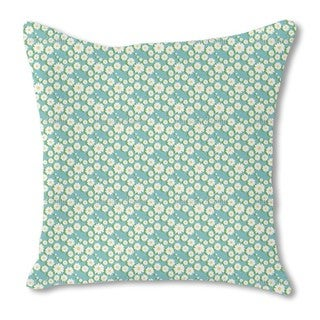 Daisy Garlands Burlap Pillow Single Sided